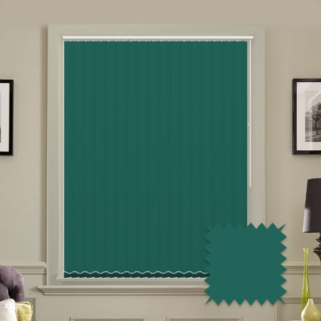 Unicolour Glade 5 inch Teal Vertical Blinds - made to measure - Just Blinds
